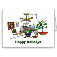 Ham Radio Whacky Shack Christmas Card - Funny card for all Ham Radio operators.