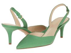 Nine West Margareth Green Leather - 6pm.com