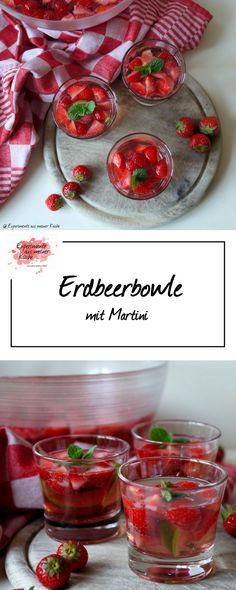 Erdbeerbowle mit Martini | Rezept | Alkohol | Getränke
