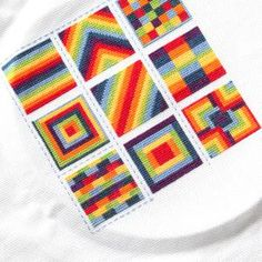 10 Rainbow Embroidery Projects to Inspire Your Stitching: Cross Stitch Rainbow Blocks