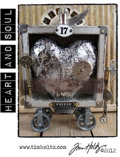 """This is one of the classes Tim Holtz is teaching called """"Heart and Soul.""""  Awesome!!"""