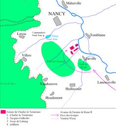 La batalla de Nancy se libró el 5 de enero de 1477 en la ciudad francesa del mismo nombre. Tuvo como principales protagonistas, por un lado, al duque de Borgoña, Carlos el Temerario y el duque de L...