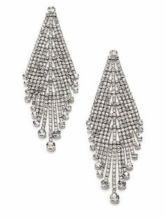 9c72c47c7 ABS by Allen Schwartz Jewelry - Draped Rhinestone Earrings - Saks.com  Rhinestone Earrings,