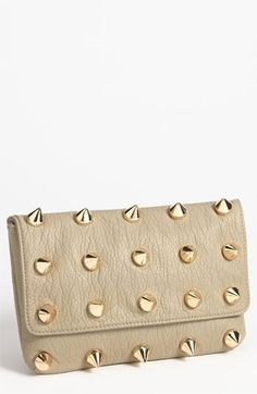 This too in Putty! Deux Lux 'Empire' Faux Leather Clutch available at #Nordstrom