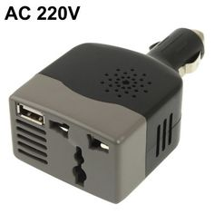 100W DC 12V to AC 220V Slim Car Power Inverter with USB Port Weekly Deal from zasttra.com  #deals #sale #charger #cars Science Park, Car Parts And Accessories, Dvr Camera, Usb, Cameras, Charger, Chinese, Slim, Electronics