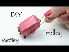 DIY Dollhouse - How to make a mini travel trolley - YouTube