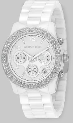 Michael Kors Stainless Steel Ceramic Chronograph Bracelet Watch