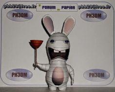 Raving Rabbids - Lapin Cretin Paper Toy - by Philippe Phh29