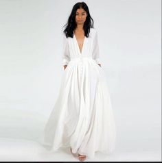 Cheap dresses baptism, Buy Quality dress white directly from China dress true Suppliers: New Free Shipping 2015 winter women dress Casual fashion maxi dress V-Neck Long sleeve White Loose s