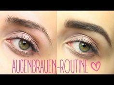 ▶ AUGENBRAUEN-ROUTINE (Augenbrauen+Oberlippe mit Faden zupfen) - YouTube