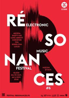 Typographic Posters : atelier toutvabien resonances 2012 poster by tout va bien