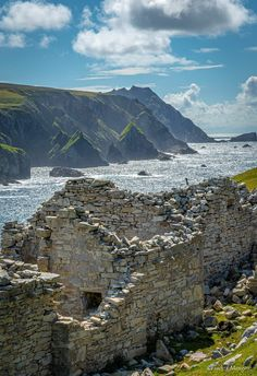 Fuins of a Ghost Village at Port, Glencolmcille, County Donegal County Clare, Donegal, Geography, Cathedral, Castle, Tours, Mountains, History, Water