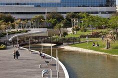 Scorcio corso d'acqua e ponticello all'interno del Parco della Musica (Fronte Thotel) My Land, Sardinia, Gardens, Italy, Musica, Italia, Outdoor Gardens, Garden, House Gardens