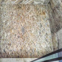Bathrooms & Showers - Pebble Tile Shop Pebble Tile Shower, Shower Pics, Tile Flooring, Stone Tiles, Showers, Bathrooms, Gallery, Shop, Home Decor