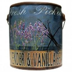 """Enjoy our fresh """"Locally Grown"""" in the USA. Our old family recipes feature """"True to Life"""" fragrances as if they were fresh from your local farmer. Each ceramic can is double wicked, 20 ounces with 100"""