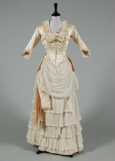 Satin and Lawn Bridal Gown, ca. late 1880s- early 1890s..png