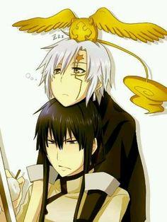 Kanda & Allen -- D. Gray Man... LOL :P Gotta love Allen :)