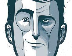 ritratto - two face - vettoriale