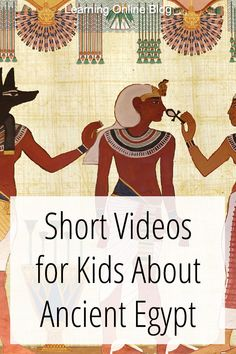 Your kids can learn about the daily life, pharaohs, religion, and pyramids of ancient Egypt from these short videos. #homeschool #history