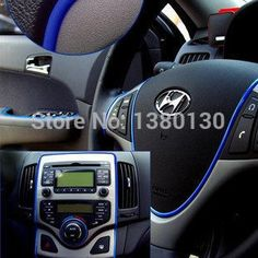 6m auto decoration sticker thread cute car interior decal decorate on for opel ford focus 2014 mazda kia vw FreeShipping -- Visit the image link more details.