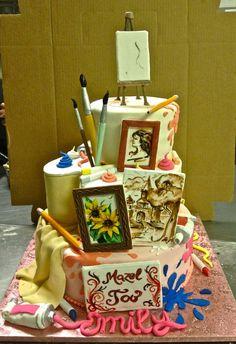 Art cake - by Chuchik @ CakesDecor.com - cake decorating website