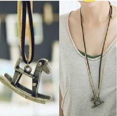 Free-Fashion-jewelry-Trojans-Bronze-Retro-long-Pendant-sweater-Necklace-N77