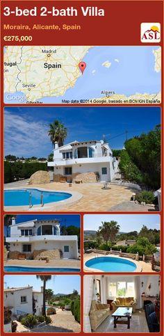 3-bed 2-bath Villa in Moraira, Alicante, Spain ►€275,000 #PropertyForSaleInSpain