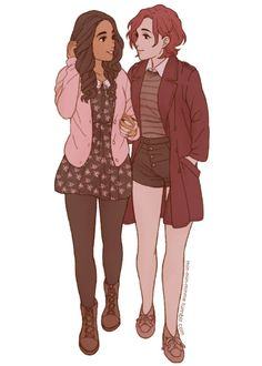 Y are lesbians so adorable Cute Lesbian Couples, Lesbian Art, Lesbian Pride, Gay Art, Lgbt Love, Chica Anime Manga, Cute Gay, Character Design Inspiration, Girls In Love