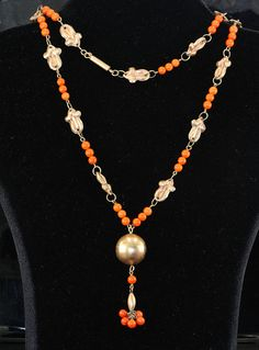 Victorian rare 9 Kt rose gold and salmon coral by hawkantiques, £1250.00