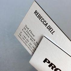 Probation letterpress business cards  Black letterpress ink on both sides on Colorplan finished with a black edge colour.