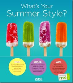 Ross What's Your Summer Style  (sponsored post) Win weekly $150 Ross Gift Cards!
