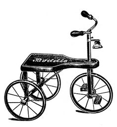Vintage Clip Art - Transportation Toys - Scooter etc - The Graphics Fairy