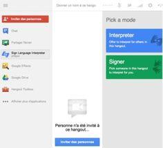Le langage des signes arrive sur Google+ Hangouts