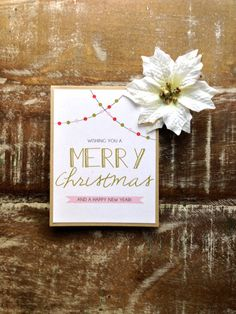 Merry Christmas and Happy New Year Greeting Card - Set of 6