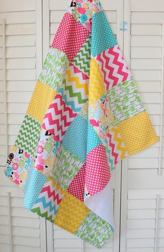Baby Blanket - Girl Blanket - Fleece Blanket - Woodland Animals Pink Chevron