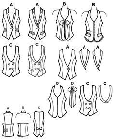 vest pattern  Love vests...you can use great scraps, even fabrics meant for upholstery, or from thrift store finds...even placemats! love the backless one!