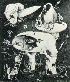 """(*)  mc escher.  """"hell"""" - 1935"""