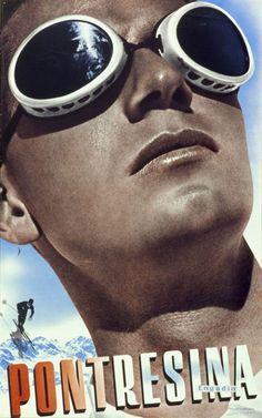 1936-Pontresina-Poster by Hebert Matter