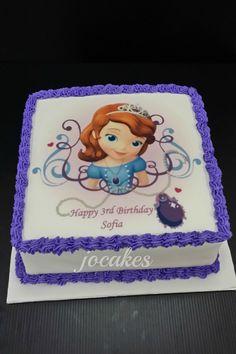 Sofia The First 1st Birthday Cake cakepins.com