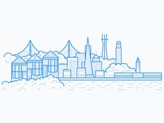 Doing a series of illustrations for each of Weebly's three office locations. First up is San Francisco!