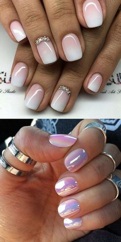 Nail Trends - # NailArt Ideas - Nail trends – - in 2020 (With images) Pink Nail Art, Pink Nails, My Nails, White Nails, Orange Nail Designs, Fall Nail Designs, Art Designs, Crome Nails, Image Nails