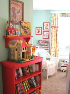 http://www.apartmenttherapy.com/colorful-vintage-inspired-play-zone-for-three-my-playroom-184179