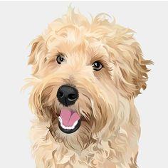 Horse Portrait, Dog Portraits, Art Deco Posters, Art Icon, Dog Art, Nursery Art, Digital Illustration, Art Inspo, Cartoon Cats