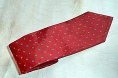 Hardy Amies London Necktie Skinny Silk Crimson by MushkaVintage3