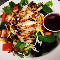 #Healthy #foodies can stop by for our Chopped #HouseSalad with #GrilledChicken 😌 made with Mixed Greens, #tomatoes, #cucumbers, #carrots, #redonions, and grilled chicken. #Yummy ❗️ #food #foodie #foodpic #restaurant #dinner #lunch #tasty #delish #delicious #nomnom #goodeats #lawnsidenj #newjersey #cuisine #soulfood #southerncuisine #foodporn #hungry #cleaneating #healthy #treatyoself