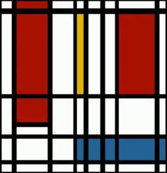 """This work is a combination between art and music; the famous Mondrian piece """"composition with yellow, blue and red"""" moves to the sounds of a song by Eviatar Banai. the movements of each color is coordinated with a different instrument- yellow for the cello, red for the violin and blue for the bas."""