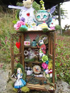 Miniature Alice In Wonderland Cabinet by Thefaerywatcher on Etsy