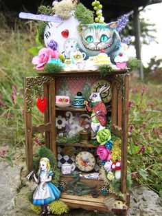 Miniature Alice In Wonderland Cabinet by Thefaerywatcher on Etsy
