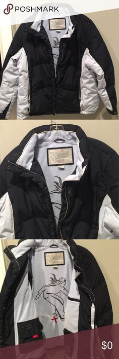 ZERO EXPOSUR Down ski jacket In very good condition, states Sz CL, Fits like Large. Navy &flight blue, front zip, 2 zipper pockets outside plus 3 more interior pockets, see photos. Zip & snap front close. Cuffs clean! ZeroXposur Jackets & Coats Puffers