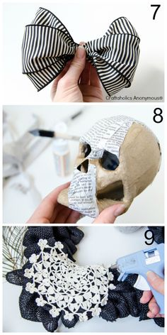 Craftaholics Anonymous® | Burlap Halloween Wreath Tutorial + Halloween Mantel